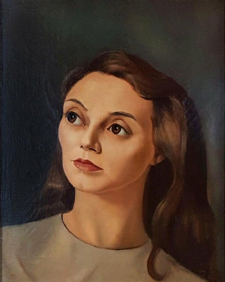 Portrait de Femme - Painting by Leonor Fini