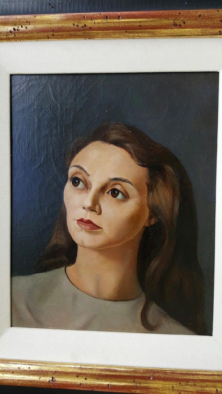 Portrait de Femme - Surrealist Painting by Leonor Fini