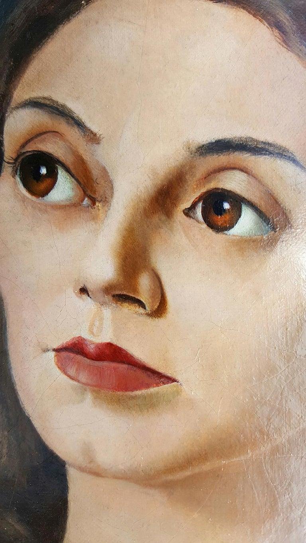 Portrait de Femme - Black Portrait Painting by Leonor Fini