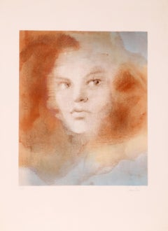 Evisa, Surrealist Lithograph by Leonor Fini
