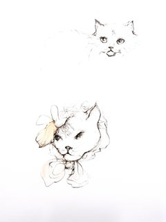 Leonor Fini - Cats - Original Etching