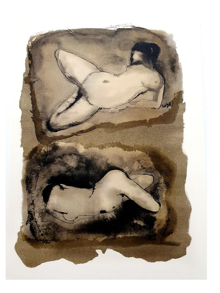 Leonor Fini - Duo - Original Lithograph - Print by Leonor Fini
