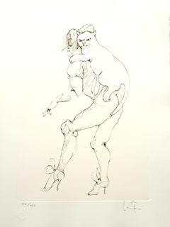 Leonor Fini - Heavy Cat - Original Handsigned Lithograph