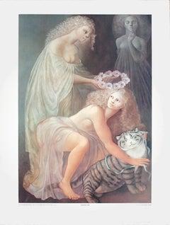 """Leonor Fini-Le Couronnement de la Bienheureuse Feline-31.5"""" x 23.5""""-Poster"""
