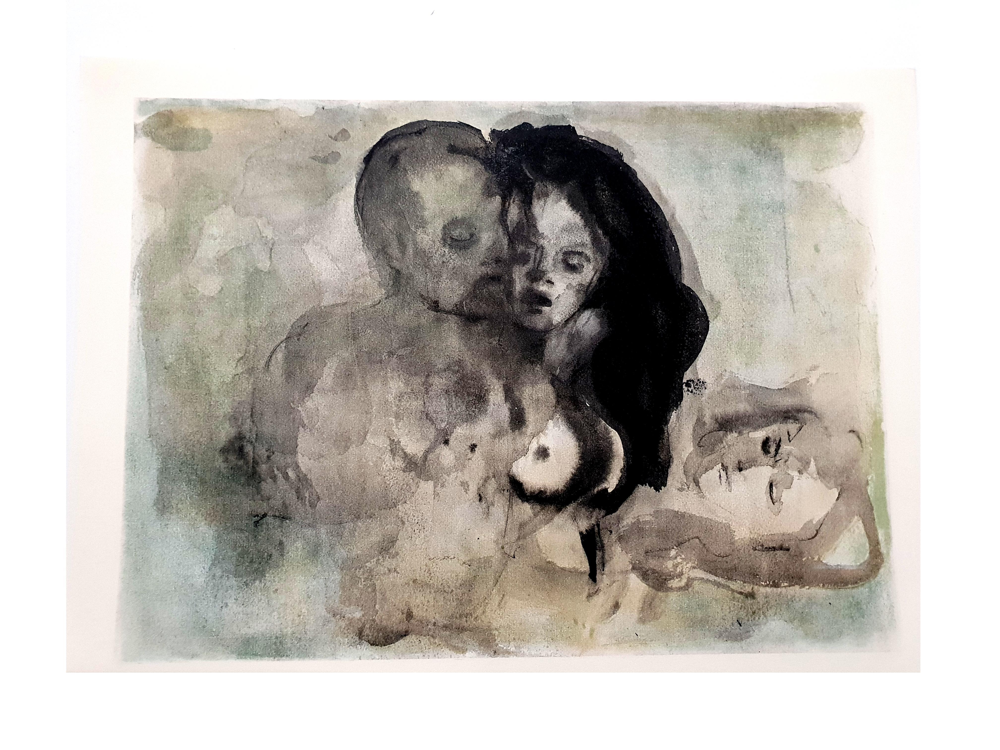 Leonor Fini - Lovers - Original Lithograph