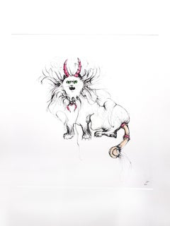 Leonor Fini - Magical Cat - Original Etching