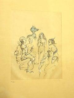 Leonor Fini - Nimphs - Original Handsigned Lithograph