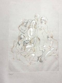 Leonor Fini - Orgy - Original Handsigned Lithograph