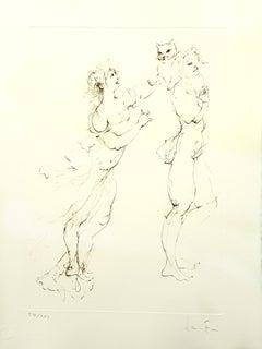 Leonor Fini - Playful Cat - Original Handsigned Lithograph