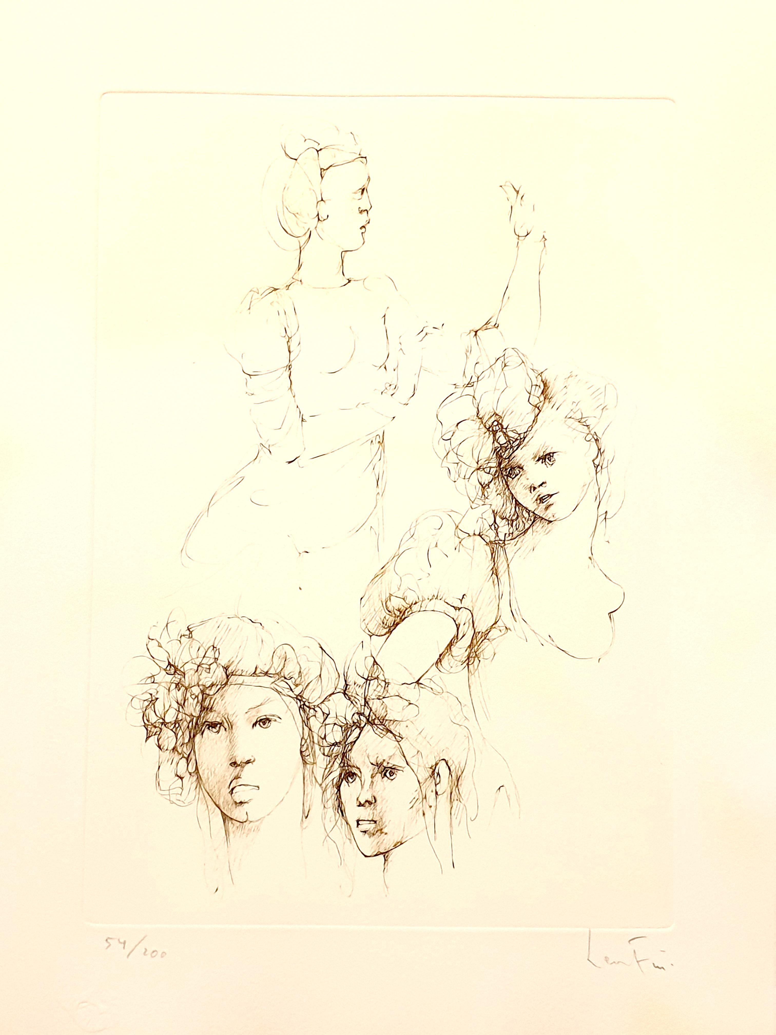 Leonor Fini - Portraits - Original Handsigned Lithograph