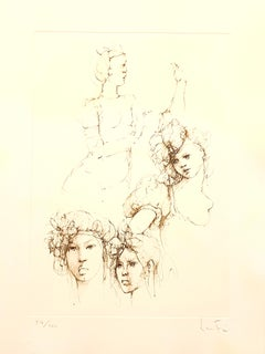 Leonor Fini - Portraits - Original Handsigned Lithograph