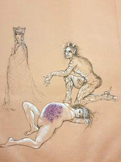 Leonor Fini - Pregnant - Original Handsigned Lithograph