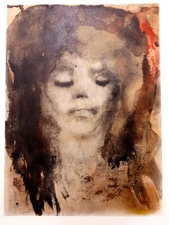 Leonor Fini - Red-Haired Girl - Original Lithograph