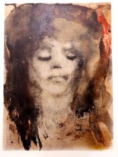 Leonor Fini - Red-Haired Girl - Original Lithograph