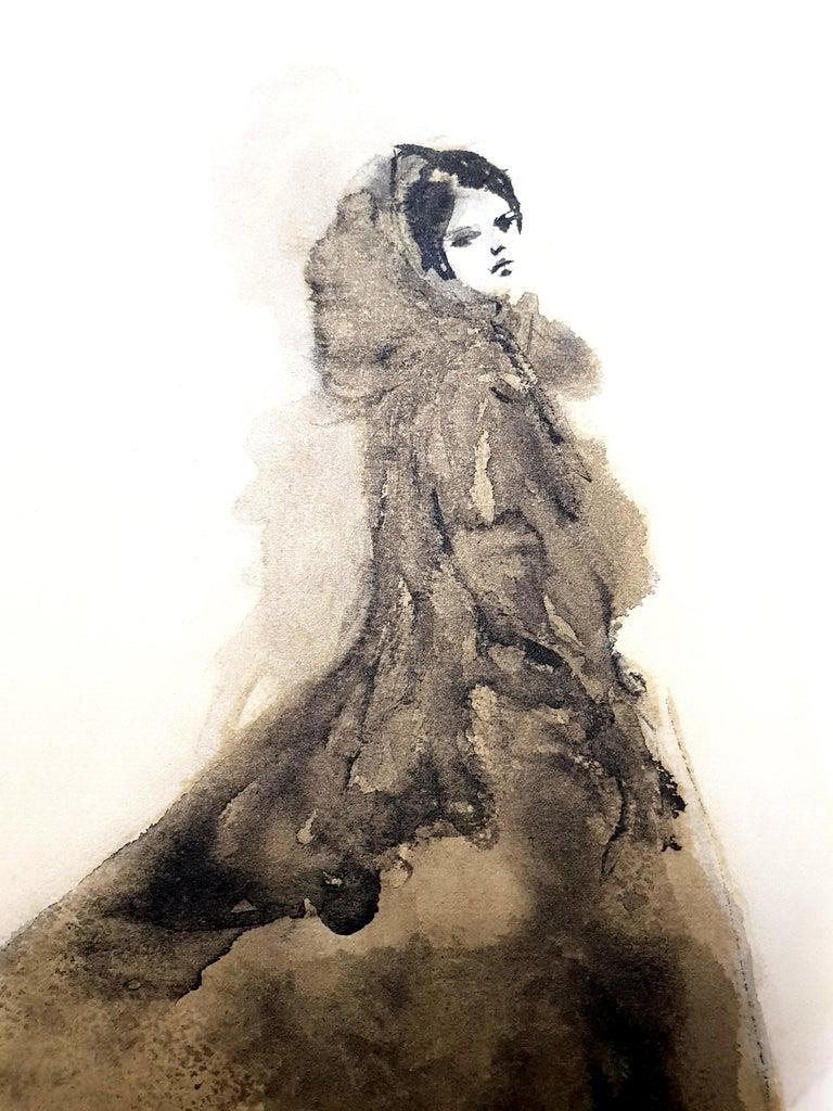 Leonor Fini - Saturday Night Dress - Original Lithograph - Modern Print by Leonor Fini