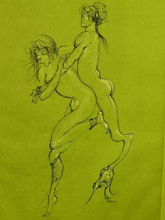 Leonor Fini - Satyr - Original Handsigned Lithograph