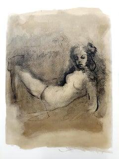 Leonor Fini - Thinking - Original Lithograph