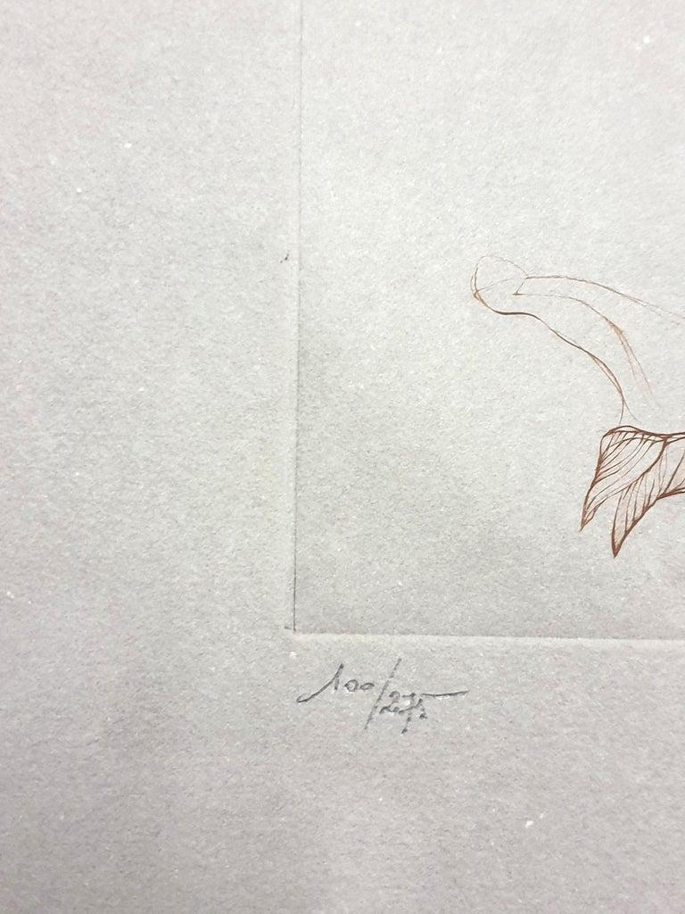 Leonor Fini - Untitled - Original Handsigned Etching - Gray Figurative Print by Leonor Fini