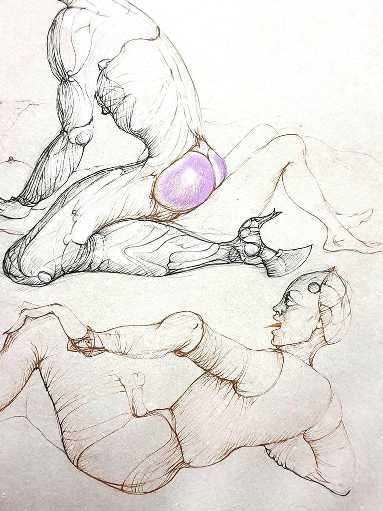 Leonor Fini - Untitled - Original Handsigned Etching For Sale 3