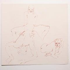Nude Study - Original Lithograph by Leonor Fini - 1970s