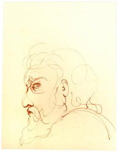 Profile - Original Lithograph by Leonor Fini - 20th Century