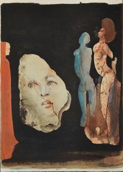 Satyricon - Original Lithograph by Leonor Fini - 1970