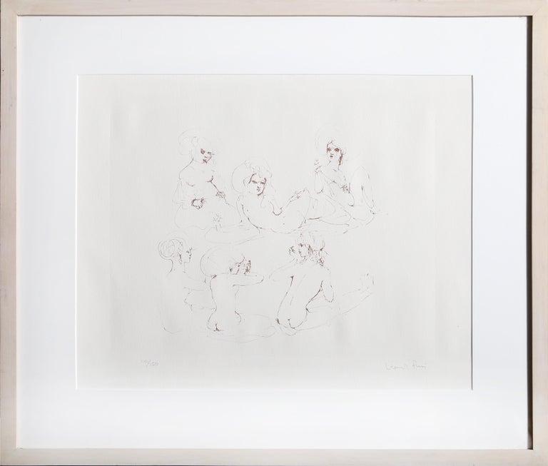 Leonor Fini Figurative Print - Six Nudes