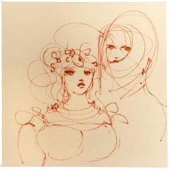 Two Women - Original Lithograph by Leonor Fini