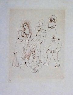 Leonor Fini Erotica I etching