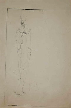 Woman - Original Etching by Leonor Fini - 1970s