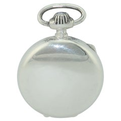 Leonore Doskow Sterling Silver Pocket Watch Pill Box Locket