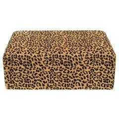 Leopard Pouf