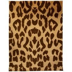 Modern Leopard Beige and Brown Rug
