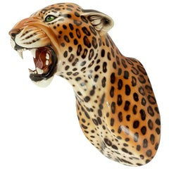 Leopard Spotted Wall Sculpture in Ceramic