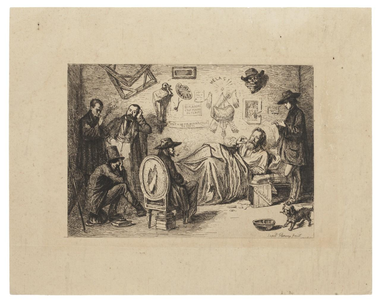 The Poet - Original Etching - Early 20th Century