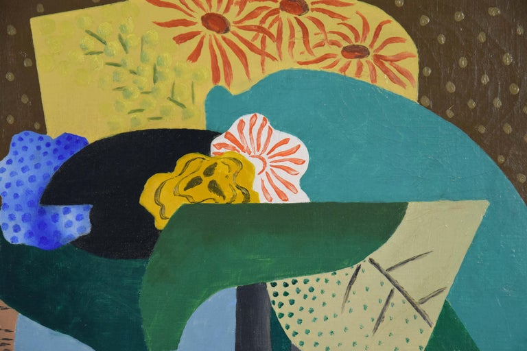 Nature Morte aux Fleurs by Leopold Survage - Cubist still life painting For Sale 1