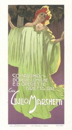 Compagnia d'Opere Comiche - Vintage Adv Lithograph by L. Metlicovitz - 1910