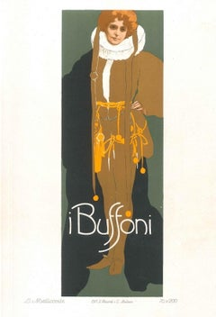 I Buffoni - Vintage Adv Lithograph by L. Metlicovitz - 1914