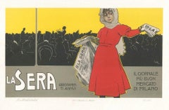 La Sera - Original Vintage Advertising Lithographby L. Metlicovitz - 1900 ca.