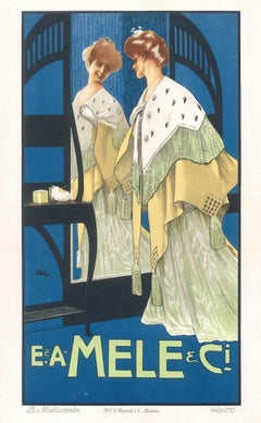 Mele - Original Vintage Advertising Lithographby L. Metlicovitz - 1900 ca.