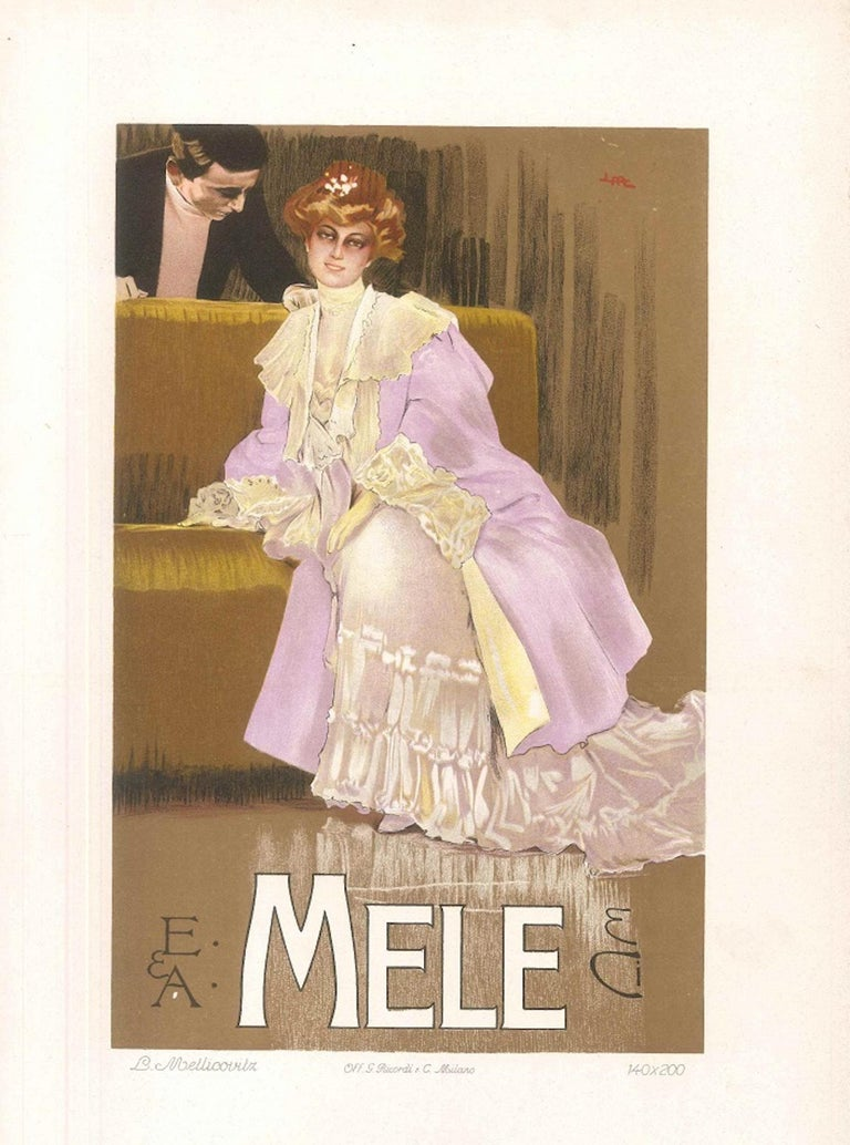 Mele - Original Vintage Advertising Lithographby L. Metlicovitz - 1906 - Print by Leopoldo Metlicovitz