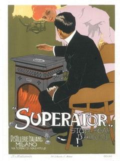 Superato - Vintage Adv Lithograph by L. Metlicovitz - 1914