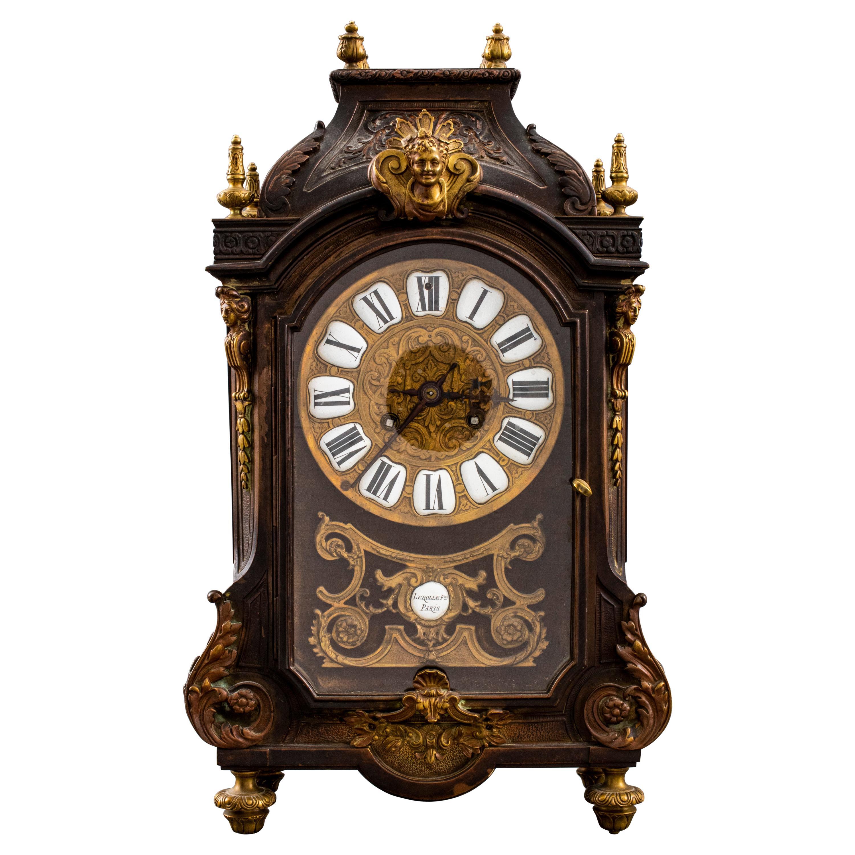 Lerolle Freres French Régence Style Bronze Mantel Clock