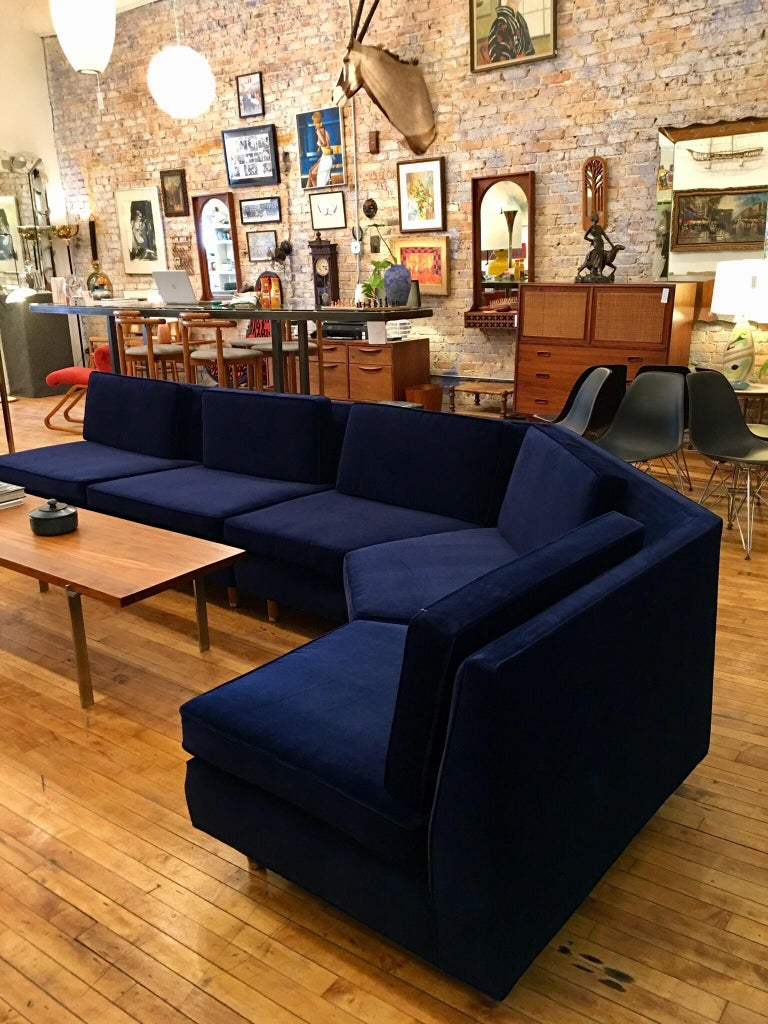 Vintage Harvey Probber sofa from the Estate of Lerone Bennett Jr. Harvey Probber is the first name in quality, hardwood and smart design.  Often called