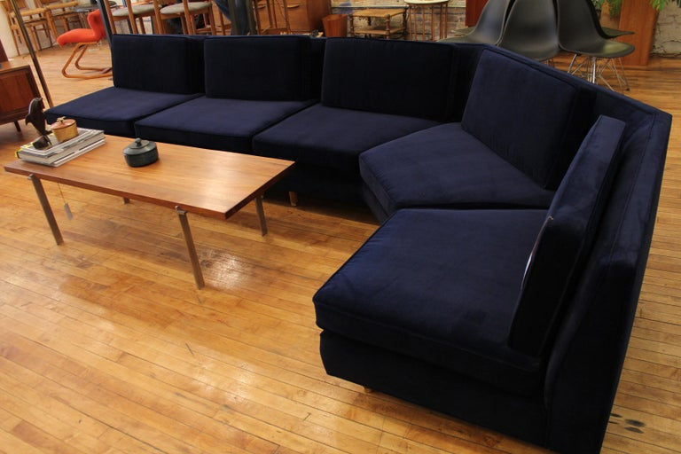 American Lerone Bennett Ebony Magazine Harvey Probber Mid-Century Modern Sectional Sofa For Sale