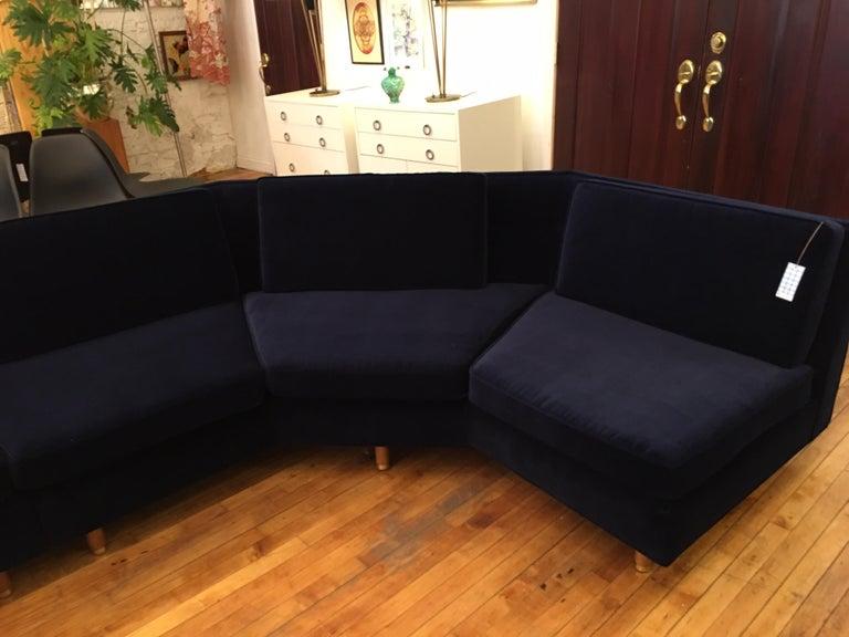 Upholstery Lerone Bennett Ebony Magazine Harvey Probber Mid-Century Modern Sectional Sofa For Sale