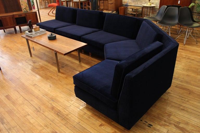 Lerone Bennett Ebony Magazine Harvey Probber Mid-Century Modern Sectional Sofa For Sale 1