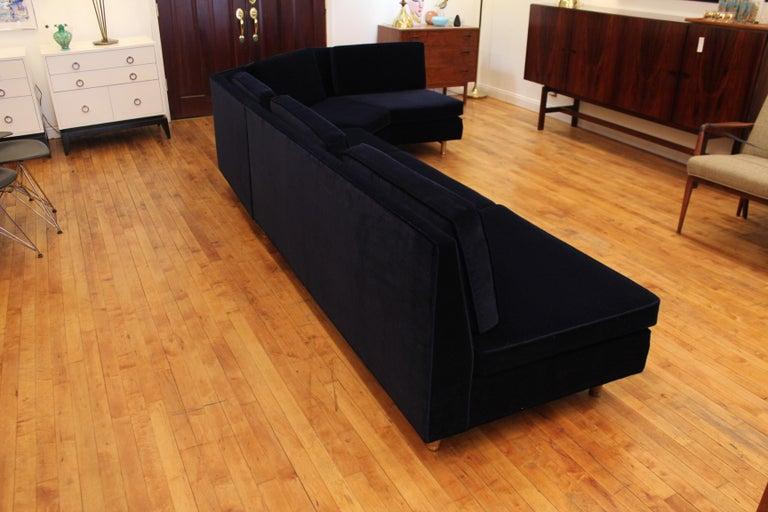 Lerone Bennett Ebony Magazine Harvey Probber Mid-Century Modern Sectional Sofa For Sale 2