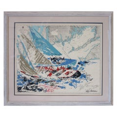 Leroy Neiman America's Cup Martha's Vineyard Pencil Signed Print