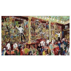 LeRoy Neiman Original Painting 'F.X. McRory's Whiskey Bar Seattle' , 1980